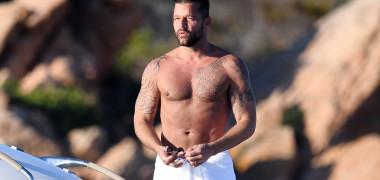 Ricky Martin and Jwan Yosef spotted in Sardinia