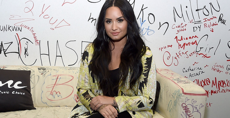Demi Lovato Visits Music Choice