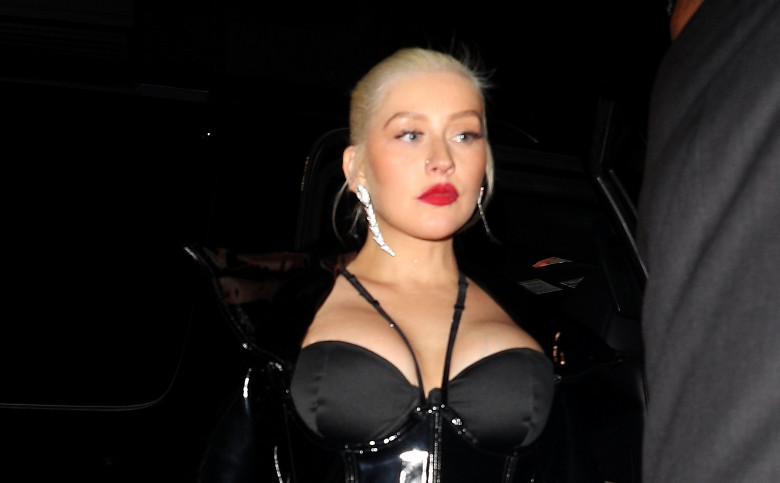 EXCLUSIVE: Christina Aguilera Arrives At 1 Oak Harpers After Party In New York City