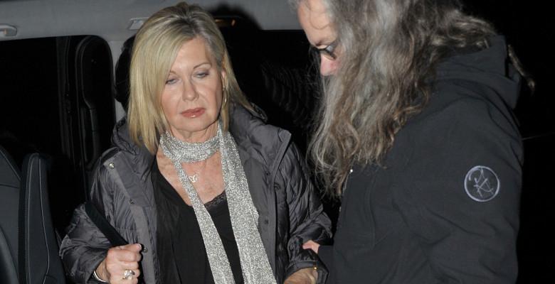 Olivia Newton John Arrives At RTE Studios In Dublin