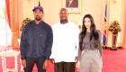 Kanye West et Kim Kardashian reçus par le president d'Ouganda Yoweri Museveni