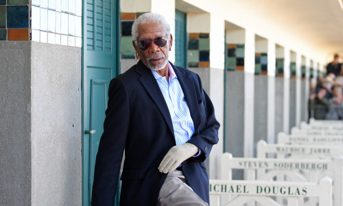 Morgan Freeman Receives Honorary Award : Photocall - 44th Deauville American Film Festival