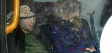 Robert Pattinson and Suki Waterhouse leaving Chiltern Firehouse late at night