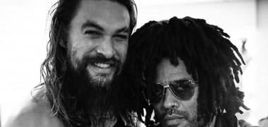 Jason Momoa cu Lenny Kravitz