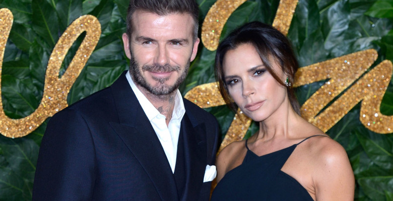 David și Victoria Beckham la Fashion Awards - Londra