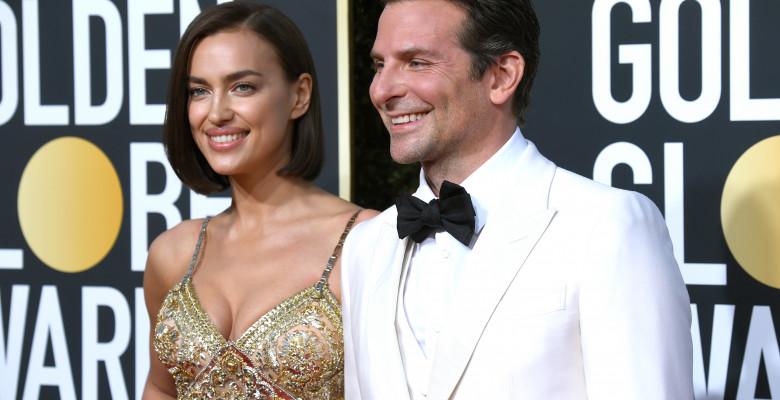 Irina Shayk și Bradley Cooper pe covorul roșu la gala Globurile de Aur 2019