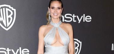 Heidi Klum, ținută transparentă și sexy la petrecerea de după...