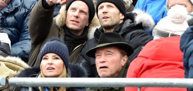Jason Statham, Heather Milligan și Arnold Schwarzenegger