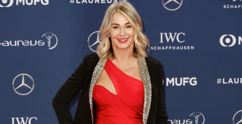 Nadia Comăneci la gala premiilor Laureus