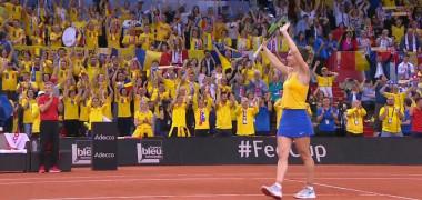 Simona Halep duce România mai aproape de finală! Mladenovic - Halep 3-6, 1-6   Franța - România Fed Cup