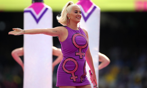 Katy Perry Performs During The ICC Women's T20 Cricket World Cup Final