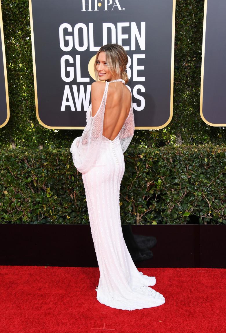 Renee Bargh la Golden Globe Awards, in ianuarie 2019. Foto: Jon Kopaloff/Getty Images