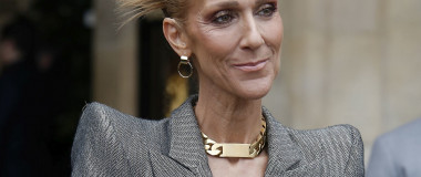 Celine Dion leaving her hotel during the Fashion week 2019 in Paris