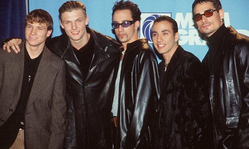 12/8/97 Las Vegas, NV. The Backstreet Boys at the 1997 Billboard Music Awards.