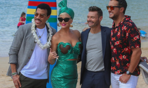 *EXCLUSIVE* Katy Perry, Lionel Richie, Ryan Seacrest, and Luke Bryan film scenes for the upcoming season of 'American Idol'