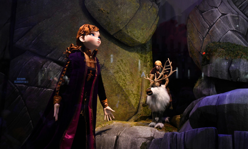 "Disney And Saks Fifth Avenue Unveil ""Disney Frozen 2"" Holiday Windows"