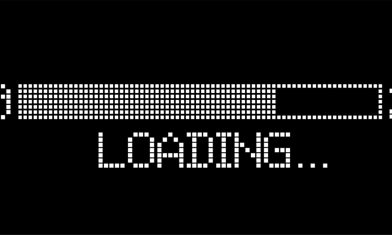 pixelated progress bar year 2020 to 2021 loading