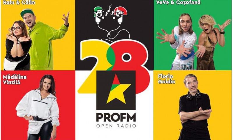 PROFM implineste 28 de ani si face party cu toata Romania!