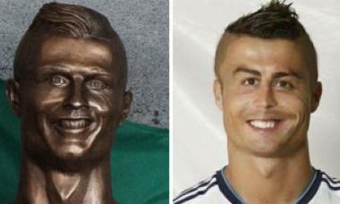 Tot netul a râs de statuia lui Ronaldo! Sculptorul a mai încercat o dată. Iată rezultatul