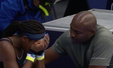 Cori Gauff a izbucnit in lacrimi in timpul unui meci: Ce i-a strigat tatalui sau