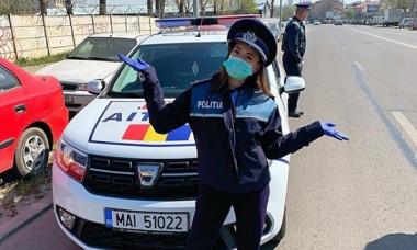 O mare campioana a Romaniei a devenit politista: Participa la controale in trafic
