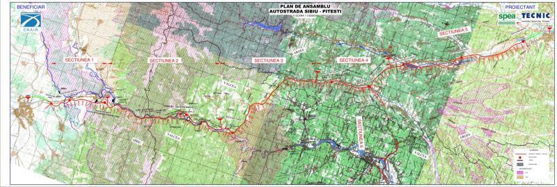 Harta Viitoarei Autostrăzi Sibiu Pitești