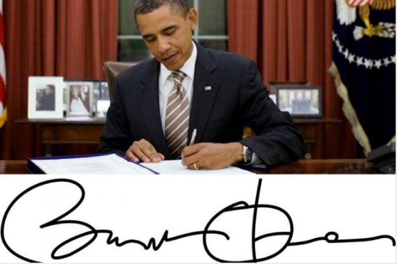 semnatura obama - reuters