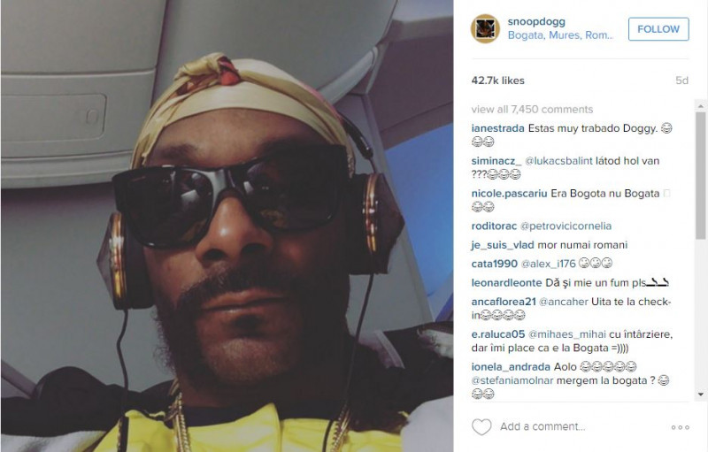 snoop dogg check in instagram bogata