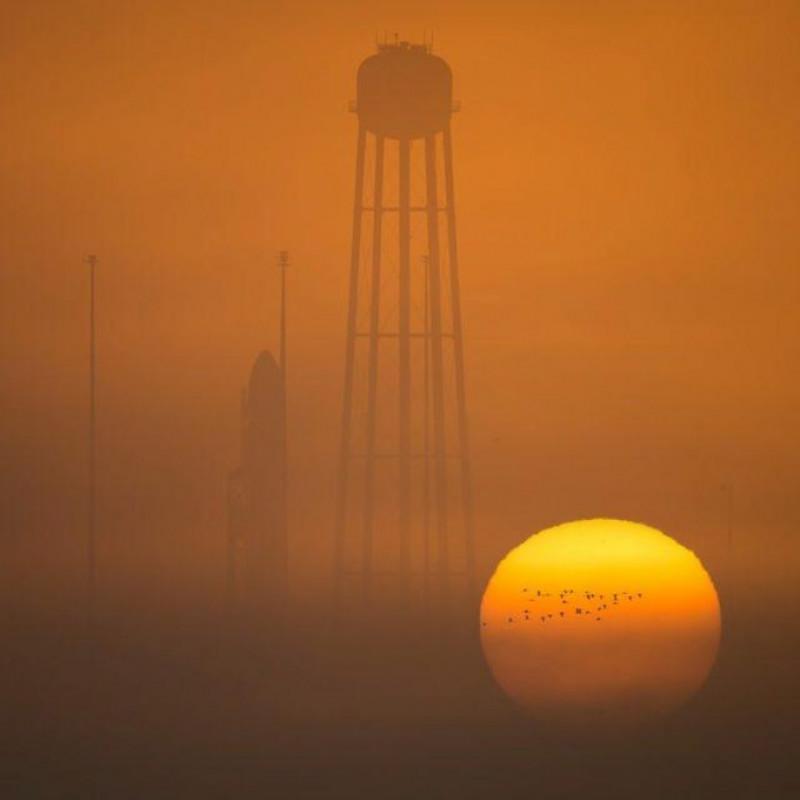 Cygnus inainte sa decoleze spre ISS nasa