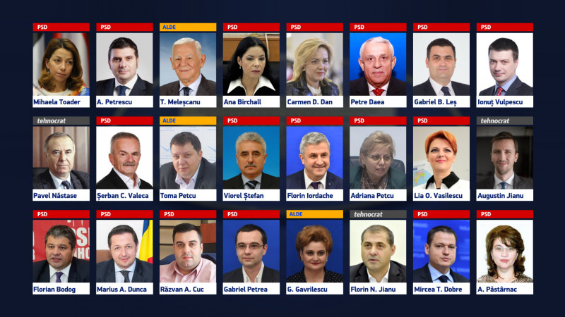 guvern complet imagini ministri