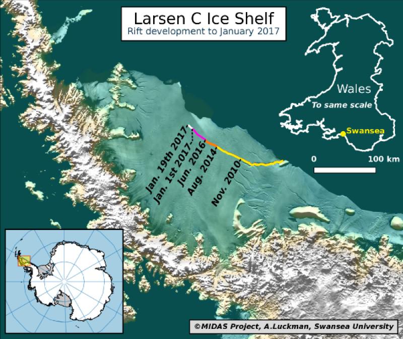 harta crevasa antarctica