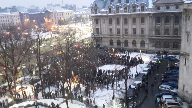 protest amnistie Bucuresti 220117