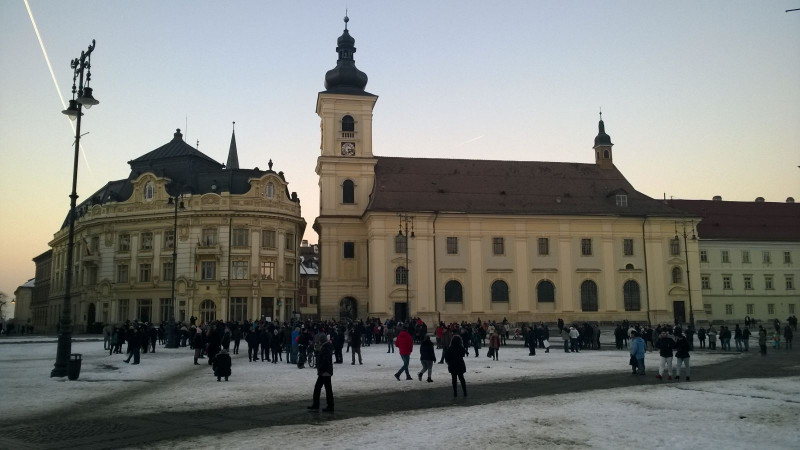 protest amnistie Sibiu 220117