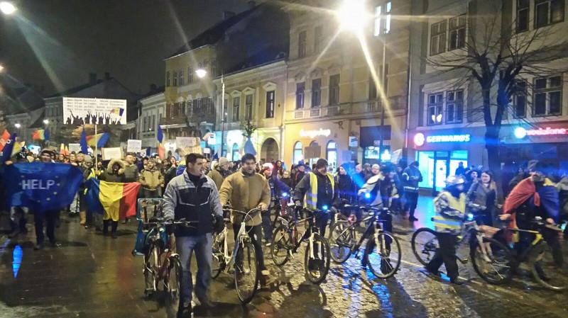 Protest Sibiu biciclete 080217