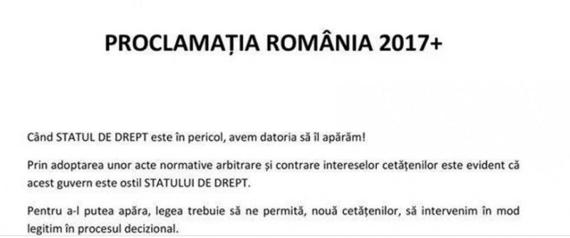 proclamatia romania 2017