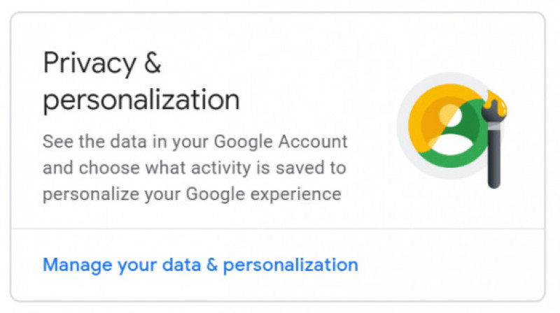 privacy and personalization google