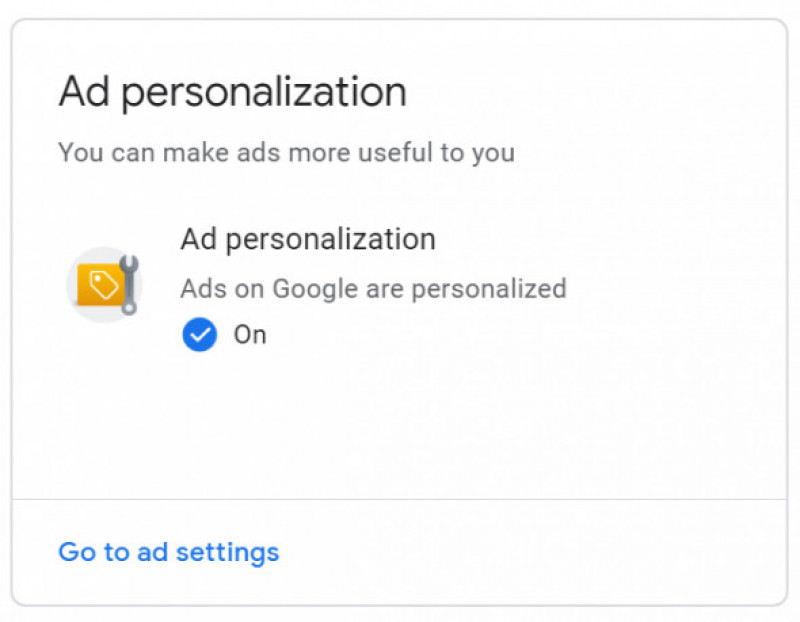 fereastra ad personalization