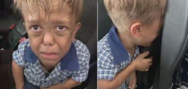 VIDEO: Un băiat de 9 ani, cu nanism, o roagă pe mama sa să îi dea o sfoară ca să se spânzure