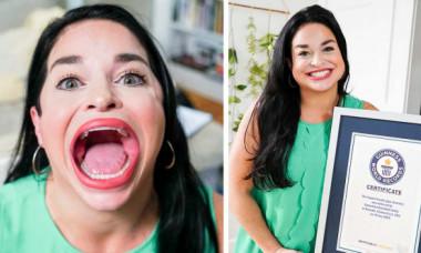 """""""Are gura mare!"""" nu e o jignire pentru o americancă. Samantha Ramsdell a intrat în Cartea Recordurilor (VIDEO)"""