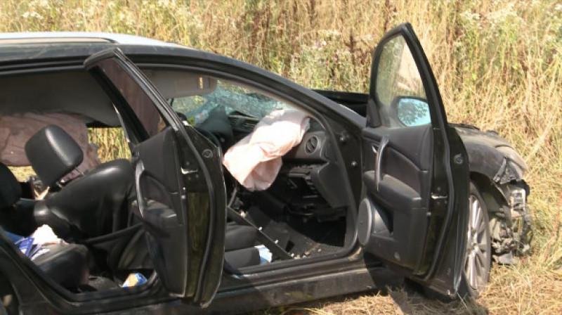 Mașină accidentată în Timiș