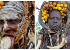 Povestea neștiută a femeilor din tribul Mursi, cel mai fascinant al Etiopiei. Ce se întâmplă cu ele dacă își pierd soții
