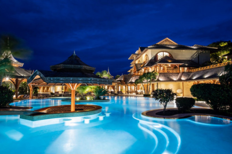 Inside the luxury Calivigny Island