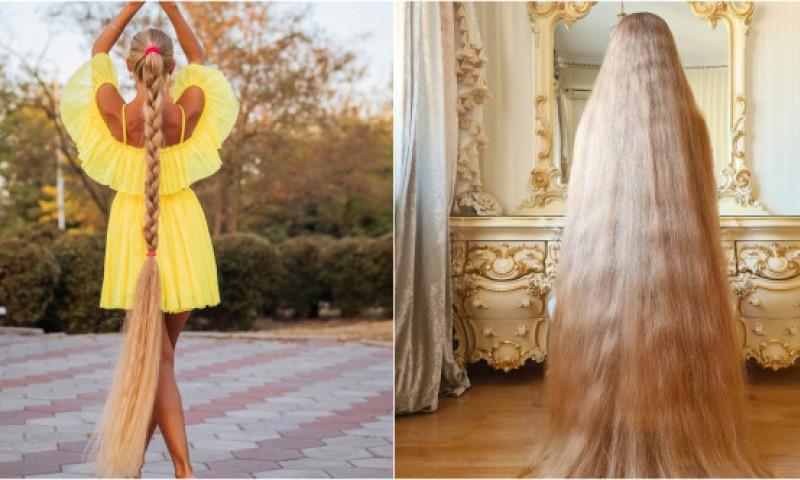 Și-a lăsat părul să crească de la vârsta de 5 ani. Cum arată femeia supranumită Rapunzel de Ucraina