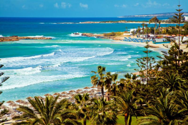 Cyprus,Beautiful,Coastline,,Mediterranean,Sea,Of,Turquoise,Color