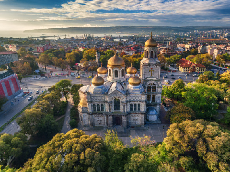 Aerial,View,Of,The,Cathedral,Of,The,Assumption,In,Varna