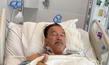 """Arnold Schwarzenegger, supus unei operații la inimă. Imaginea cu starul din """"Terminator"""" pe patul de spital i-a îngrijorat pe fani"""