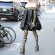 *EXCLUSIVE* Anya Taylor-Joy wears a leopard printed dress in New York City