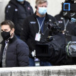 *EXCLUSIVE* Hollywood actor Tom Cruise and co star Hayley Atwell on the set of Mission Impossible 7 - Libra out filming in Rome.