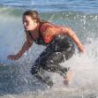 *EXCLUSIVE* Ocean lovers Adam Brody and Leighton Meester enjoy another 'Surf Date' in Malibu!