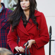 *EXCLUSIVE* **WEB MUST CALL FOR PRICING** A youthful looking 54-year old Dutch actress Famke Janssen seen filming The Capture in London.
